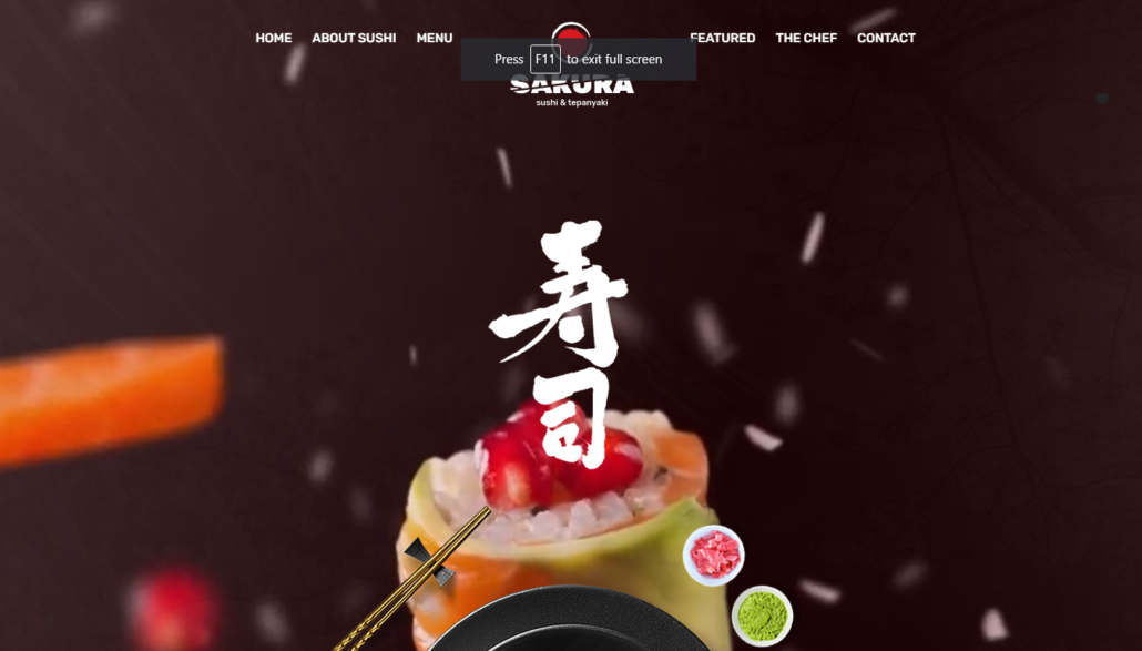 Sushi delivery solution demo